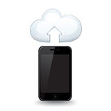 Den smarta telefonen laddar upp Royaltyfri Fotografi