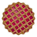 Den smaskiga läckra körsbärsröda kakan är van vid dekorerar baner, befordringar, menus1 vektor illustrationer
