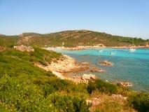 Den Smerald kusten Principe vaggar Arkivfoton