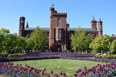Den Smithsonian Institution byggnaden (slott) i Washington, DC arkivfoton