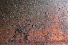 Den smutsiga texturen av den gamla pannabotten Royaltyfri Bild