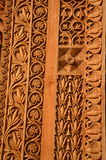 Den smyckade dörröppningen till templet av en gud Fotografering för Bildbyråer