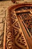 Den smyckade dörröppningen till templet av en gud Royaltyfri Fotografi
