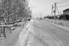 Den snöig vintern landskap Royaltyfria Bilder