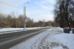 Den snöig vintern landskap Royaltyfria Foton