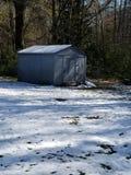 Den Snowie vintern ut inhyser fotografering för bildbyråer