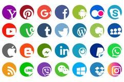 Den sociala symbolen för massmediawebsitelogo stock illustrationer