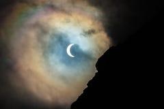 Den sol- förmörkelsen 2015 Royaltyfri Fotografi