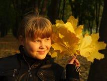 Den sol- flickan Royaltyfri Foto
