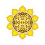 Den solarplexusChakra mandalaen Arkivbild