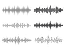 Den solida vektorn vinkar MusikDigital utjämnare Arkivbilder