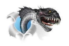 Den som undergår mutation ormen invaderar ditt dokument Royaltyfri Bild