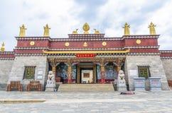 Den Songzanlin templet är den största kloster för tibetan buddism i det Yunnan landskapet Det kallas den lilla Potala slotten ell Royaltyfria Bilder