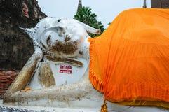 Den sova Buddha i Ayutthaya Thailand Royaltyfri Bild