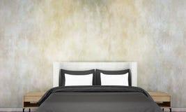 Den sovruminredesignen och väggen mönstrar bakgrund och Royaltyfria Bilder