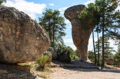 Den spökade staden, Cuenca royaltyfria foton