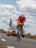 Den spanska cyklisten Luis-Leon Sanchez Royaltyfri Foto