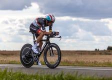 Den spanska cyklisten Zubeldia Haimar Fotografering för Bildbyråer