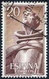 Den spanska Franciscan munken, San Pedro de Alcantara, hans riktigt namn är Juan de Garavito och Vilela de Sanabria royaltyfria bilder