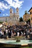 Den spanska fyrkanten - Rome Arkivfoton