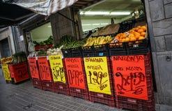 Den spanska grönsaken shoppar Fotografering för Bildbyråer