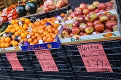 Den spanska grönsaken shoppar Arkivbild