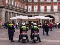 Den spanska polisen Madrid Arkivfoto