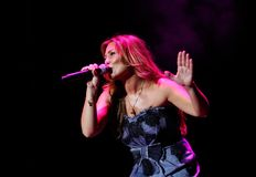 Den spanska sångareAmaia monteroen bor Arkivbilder