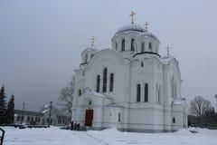 Den Spaso-Euphrosyne kloster är en ortodox kloster för kvinna` s i Polotsk, Vitryssland Royaltyfri Fotografi