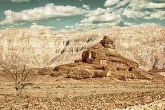 Den spiral kullen, Timna parkerar, Israel HDR Royaltyfria Bilder