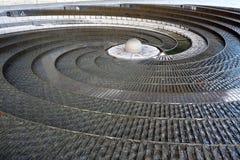 Den spiral springbrunnen, Darling Harbour, Sydney, Australien Royaltyfri Foto
