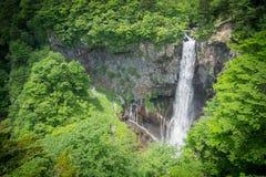 In den Spitzen3 Wasserfällen in Japan Kegon-Fälle, Nikko Lizenzfreie Stockfotografie