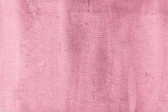 Den spruckna cementväggen, rosa färg texturerade konkret bakgrund Arkivfoton