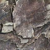 Den spruckna stenen vaggar i stilen av grunge Arkivfoto