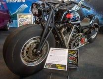 Den största rinnande motorcykeln Leonhardt Gunbus 410 för världs` s Arkivfoton