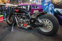 Den största rinnande motorcykeln Leonhardt Gunbus 410 för världs` s Arkivbilder