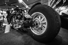 Den största rinnande motorcykeln Leonhardt Gunbus 410 för världs` s Fotografering för Bildbyråer
