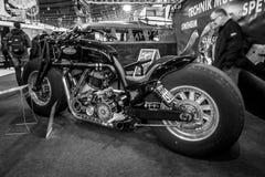 Den största rinnande motorcykeln Leonhardt Gunbus 410 för världs` s Royaltyfria Bilder