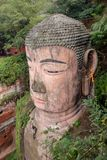 Den största stenBuddha i Kina Royaltyfri Foto
