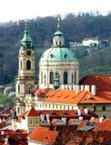 Den St Nicholas kyrkan, Lesser Town, Prague Royaltyfria Foton