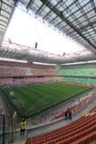 Den Stadio Giuseppe Meazza stadion i Milan, Italien Royaltyfri Fotografi