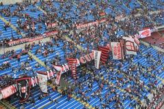 Den Stadio Giuseppe Meazza stadion i Milan, Italien Royaltyfri Foto