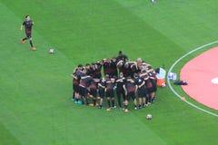 Den Stadio Giuseppe Meazza stadion i Milan, Italien Royaltyfri Bild