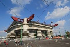 Den Stadio Giuseppe Meazza stadion i Milan, Italien Arkivfoton
