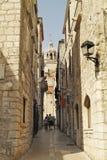 den stadscroatia ingången gates korculahuvudgammalt till townen arkivfoton