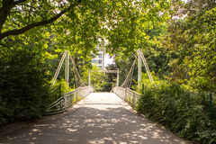 Den Stadspark staden parkerar i Antwerpen, Belgien Arkivbild