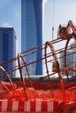Den Stahl des Dubai-Metro-Notfall zusammen verriegeln Lizenzfreie Stockbilder