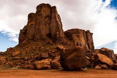 Den stam- monumentdalnavajoen parkerar, Utah, USA Arkivbilder