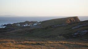 Den Star Wars filmuppsättningen på den Breasty fjärden i Malin Head, Co Donegal Ir Arkivbild