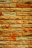 Den starka brickwallen Arkivfoto